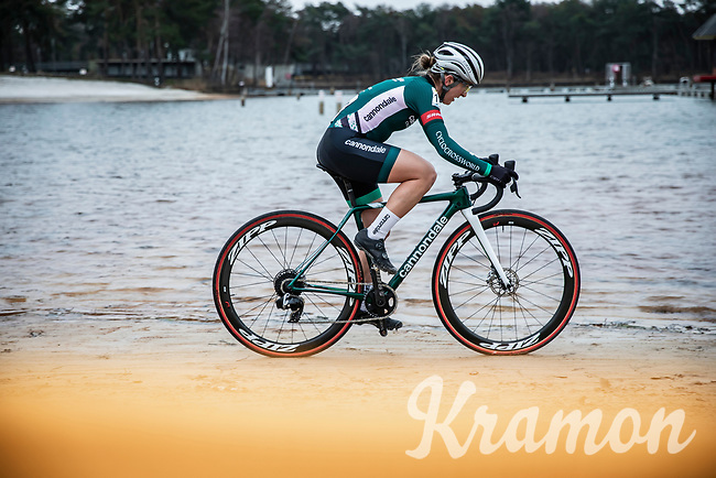 Kaitlin Keough (USA/Cannondale Cyclocrossworld)<br /> <br /> Women's elite Race <br /> Zilvermeercross Mol (BEL) 2021<br /> <br /> ©Kramon