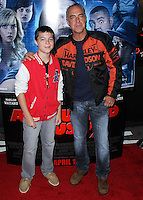 """LOS ANGELES, CA, USA - APRIL 16: Quinn Welliver, Titus Welliver at the Los Angeles Premiere Of Open Road Films' """"A Haunted House 2"""" held at Regal Cinemas L.A. Live on April 16, 2014 in Los Angeles, California, United States. (Photo by Xavier Collin/Celebrity Monitor)"""