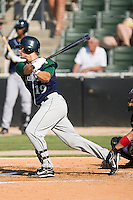 Brandon Barnes (19) of the Lexington Legends follows through on his swing at Fieldcrest Cannon Stadium in Kannapolis, NC, Sunday June 15, 2008.