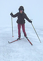 22/01/19<br /> <br /> Holly Rees skis off the summit of Mam Tor and near Castleton in the Derbyshire Peak District.<br /> <br /> All Rights Reserved, F Stop Press Ltd +44 (0)7765 242650  www.fstoppress.com rod@fstoppress.com