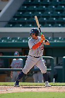 Detroit Tigers Eliezer Alfonzo (53) bats during a Florida Instructional League intrasquad game on October 24, 2020 at Joker Marchant Stadium in Lakeland, Florida.  (Mike Janes/Four Seam Images)