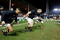 Photo: Richard Lane/Richard Lane Photography. Harlequins v Wasps.  European Rugby Champions Cup. 13/01/2018. Wasps' James Haskell warm up.