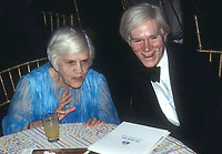 New York, NY<br /> 1978 FILE PHOTO<br /> Lillian Carter Andy Warhol at Studio 54<br /> Photo by Adam Scull-PHOTOlink.net