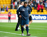 St Johnstone v Dunfermline... 13.08.11   SPL Week 4.Picture by Graeme Hart..An unhappy Derek McInnes at full time.Copyright Perthshire Picture Agency.Tel: 01738 623350  Mobile: 07990 594431