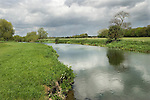 Grantchester Cambridgeshire UK The River Cam or River Granta at Grantchester. Grantchster Meadow to left of image.