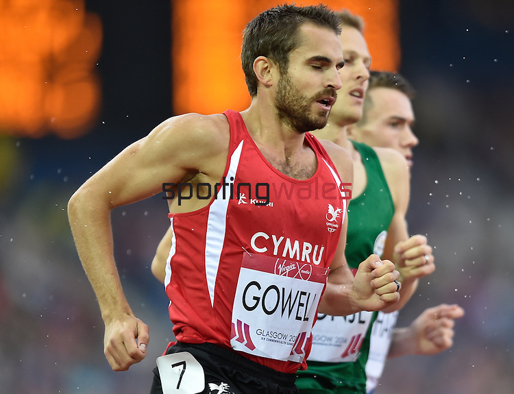Wales Chris Gowel in action during the mens 1500 meter final <br /> <br /> Photographer Ian Cook/Sportingwales<br /> <br /> 20th Commonwealth Games - Day 10 - Saturday 2nd August 2014 - Athletics -  Hamden Park - Glasgow - UK