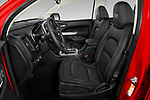 Front seat view of a 2019 Chevrolet Colorado ZR2 4 Door Pick Up front seat car photos