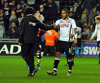 ATTENTION SPORTS PICTURE DESK<br /> Pictured: Ashley Williams of Swansea City <br /> Re: Coca Cola Championship, Swansea City Football Club v Plymouth Argyle at the Liberty Stadium, Swansea, south Wales. Tuesday 08 December 2009