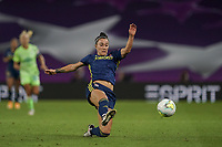 30th August 2020, San Sebastien, Spain;  Lucy Bronze of Lyon in action during the UEFA Womens Champions League football match Final between VfL Wolfsburg and Olympique Lyonnais.