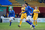 Motherwell v St Johnstone...28.01.12  .Fran Sandaza shows know emotion after scoring from the spot .Picture by Graeme Hart..Copyright Perthshire Picture Agency.Tel: 01738 623350  Mobile: 07990 594431