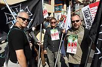 Manifestation contre le ''saccage de l'assurance-emploi'', le 2 octobre 2013<br /> <br /> Photo : Agence Quebec Presse.<br /> <br /> October2, 2013 file photo - Demonstration against changes and cuts in unemployement insurance