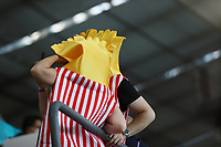Belgische Fans als Pommes frites im Stadion <br /> - Muenchen 02.07.2021: Italien vs. Belgien, Viertelfinale, Allianz Arena Muenchen, Euro2020, emonline, emspor, Playoffs, Quarterfinals<br /> <br /> Foto: Marc Schueler/Sportpics.de<br /> Nur für journalistische Zwecke. Only for editorial use. (DFL/DFB REGULATIONS PROHIBIT ANY USE OF PHOTOGRAPHS as IMAGE SEQUENCES and/or QUASI-VIDEO)