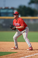 Philadelphia Phillies Rixon Taylor-Wingrove (52) during a Florida Instructional League game against the New York Yankees on October 11, 2018 at Yankee Complex in Tampa, Florida.  (Mike Janes/Four Seam Images)