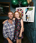 """Jeff Wise and Charlotte Wise attend the Birthday Party Photo Call for the Wheelhouse Theater Company production of Kurt Vonnegut's """"Happy Birthday, Wanda June""""  on October 3, 2018 at Bond 45 Times Square in New York City."""