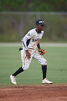 Tre Richardson (1) during the WWBA World Championship at the Roger Dean Complex on October 11, 2019 in Jupiter, Florida.  Tre Richardson attends Kingwood High School in Kingwood, TX and is committed to Baylor.  (Mike Janes/Four Seam Images)