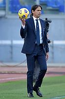 Simone Inzaghi coach of SS Lazio holds the ball during the Serie A football match between SS Lazio and UC Sampdoria at Olimpico Stadium in Roma (Italy), February 20th, 2021. Photo Antonietta Baldassarre / Insidefoto