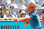 Rafa Nadal from Spain during his Madrid Open tennis tournament semifinal match against Tomas Berdych from Czech Republic in Madrid, Spain. May 09, 2015. (ALTERPHOTOS/Victor Blanco)