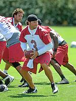 May 19, 2009; Tempe, AZ, USA; Arizona Cardinals quarterback Tyler Palko during organized team activities at the Cardinals practice facility. Mandatory Credit: Mark J. Rebilas-