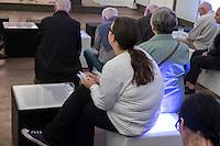 Vernisage EXurban im Klinikum Buch.<br /> 8.9.2014, Berlin<br /> Copyright: Christian-Ditsch.de<br /> [Inhaltsveraendernde Manipulation des Fotos nur nach ausdruecklicher Genehmigung des Fotografen. Vereinbarungen ueber Abtretung von Persoenlichkeitsrechten/Model Release der abgebildeten Person/Personen liegen nicht vor. NO MODEL RELEASE! Don't publish without copyright Christian-Ditsch.de, Veroeffentlichung nur mit Fotografennennung, sowie gegen Honorar, MwSt. und Beleg. Konto: I N G - D i B a, IBAN DE58500105175400192269, BIC INGDDEFFXXX, Kontakt: post@christian-ditsch.de<br /> Urhebervermerk wird gemaess Paragraph 13 UHG verlangt.]