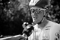 Luke Durbridge (AUS/Orica-GreenEDGE) interviewed after the stage<br /> <br /> 2014 Tour de France<br /> stage 11: Besançon - Oyonnax (187km)