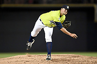 Pitcher Joshua Payne (38) of the Columbia Fireflies delivers a pitch in a game against the Augusta GreenJackets on Friday, April 6, 2018, at Spirit Communications Park in Columbia, South Carolina. Columbia won, 7-2. (Tom Priddy/Four Seam Images)