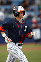 February 21 2010: Anthony Hutting of Cal. St. Fullerton during game against Cal. St. Long Beach at Goodwin Field in Fullerton,CA.  Photo by Larry Goren/Four Seam Images