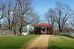 The court house at Appomattox Court House, Virginia, site of Civil War surrender.
