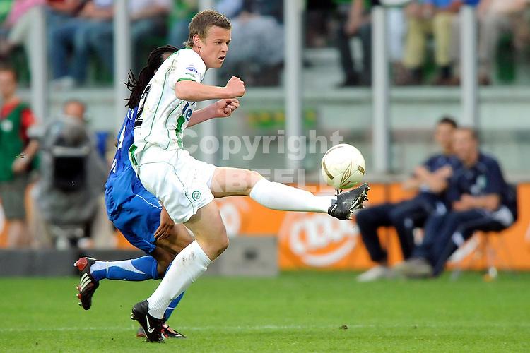 voetbal fc groningen nec play off eredivisie seizoen 2007-2008 11-05-2008  jeroen veldmate..fotograaf Jan Kanning.. ..