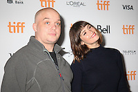 DIRECTOR COLM MCCARTHY AND GEMMA ARTERTON - RED CARPET OF THE FILM 'THE GIRL WITH ALL THE GIFTS' - 41ST TORONTO INTERNATIONAL FILM FESTIVAL 2016 . 15/09/2016. # FESTIVAL INTERNATIONAL DU FILM DE TORONTO 2016