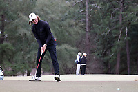 PINEHURST, NC - MARCH 02: BJ Rogillio of Wake Forest University sinks a putt on the third hole at Pinehurst No. 2 on March 02, 2021 in Pinehurst, North Carolina.