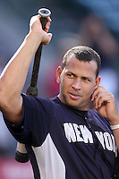 New York Yankees third baseman Alex Rodriguez #13 before game against the Los Angeles Angels at Angel Stadium on June 4, 2011 in Anaheim,California. Larry Goren/Four Seam Images