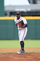 FCL Braves pitcher Frankelvin Vidal (26) during a game against the FCL Orioles Orange on July 22, 2021 at the CoolToday Park in North Port, Florida.  (Mike Janes/Four Seam Images)