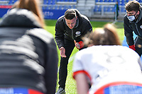 headcoach Angelo Gaytant of Zulte-Waregem pictured during a female soccer game between  Racing Genk Ladies and SV Zulte-Waregem on the 18 th and last matchday before the play offs of the 2020 - 2021 season of Belgian Scooore Womens Super League , saturday 27 th of March 2021  in Genk , Belgium . PHOTO SPORTPIX.BE | SPP | JILL DELSAUX