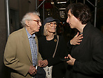 Sheldon Harnick, Margery Harnick and Hershey Felder attend the Opening Night of 'Hershey Felder As Irving Berlin' on September 5, 2018 at the 59E59 Theatre in New York City.
