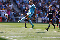 ST PAUL, MN - JULY 18: Robin Lod #17 of Minnesota United FC scores a goal during a game between Seattle Sounders FC and Minnesota United FC at Allianz Field on July 18, 2021 in St Paul, Minnesota.