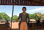Pará State, Brazil. Aldeia A-Ukre (Kayapó). Bati Kayapó. Young warrior.