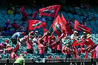 9th January 2021; Sydney Cricket Ground, Sydney, New South Wales, Australia; International Test Cricket, Third Test Day Three, Australia versus India; Indian fans celebrate a four