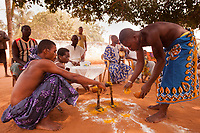 Africa,Togo Kuago, voodoo ritual celebration - celebrazione voodoo nel villaggio Kuago in Togo