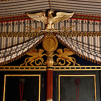 A detail of the tented Council Room by Percier and Fontaine which is in homage to the Italian and Egyptian campaigns