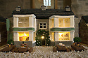 """08/12/16<br /> <br /> George Hotel.<br /> <br /> In this incredibly detailed replica of a small Peak District village, everything is edible, from the baubles on the Christmas trees to the flowers around the houses and what's more the """"village"""" is made from 35 individual rich fruit Christmas cakes which will be eaten on the 25th!<br /> <br /> The amazing model village is made up of 18 shops and houses, which are all realistic reproductions of the actual buildings found in Youlgreave, and is open to the public to view at All Saints' church, the main focal point of the miniature masterpiece.<br /> <br /> Retired florist Lynn Nolan, who decorated all the cakes, came up with the original idea as a way of raising money for the church, which needs a new roof, and the first of the cakes went in the oven back in April.<br /> <br /> MORE...https://fstoppressblog.wordpress.com/the-village-thats-really-a-christmas-cake/<br /> <br /> All Rights Reserved F Stop Press Ltd. (0)1773 550665   www.fstoppress.com"""