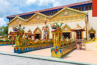 Nagas, Yakshas, and Nats Guard Entrance to Wat Chayamangkalaram,  Temple of the Reclining Buddha.  George Town, Penang, Malaysia