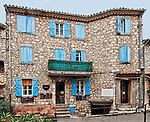 Building with restaurant and shop in the village of Gourdon, Côte d'Azur, France
