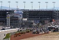 Apr 9, 2006; Las Vegas, NV, USA; An overall view of The Strip at Las Vegas Motor Speedway in Las Vegas, NV during the NHRA Summitracing.com Nationals. Mandatory Credit: Mark J. Rebilas