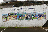 WORDS BY JANE FRYER, DAILY MAIL<br /> Pictured: A Community History mural in Aberporth, west Wales, UK. Thursday 21 December 2017<br /> Re: The Welsh coastal village of Aberporth has launched a crusade against single-use plastic products.<br /> The village's general store is selling milk in glass bottles and a pub has replaced plastic drinking straws with paper ones.<br /> Residents launched Plastic-free Aberporth as the UK government's Environment Secretary, Michael Gove, issued his four-point plan for tackling plastic waste.
