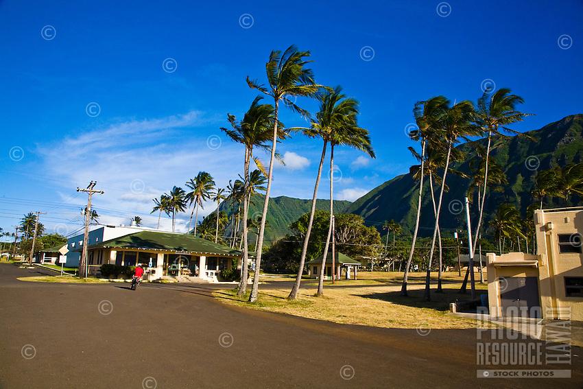 Historic Hansen's Disease settlement on north coast of Molokai, Hawaii