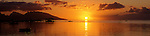 Sun setting in Moorea, French Polynesia