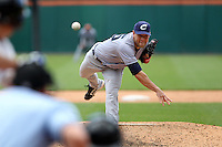 Columbus Clippers relief pitcher Frank Herrmann #45 delivers a pitch during a game against the Buffalo Bisons at Coca-Cola Field on May 31, 2012 in Buffalo, New York.  Columbus defeated Buffalo 3-0.  (Mike Janes/Four Seam Images)