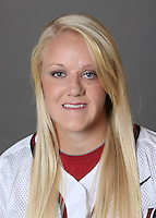 STANFORD, CA - OCTOBER 29:  Teagan Gerhart of the Stanford Cardinal softball team poses for a headshot on October 29, 2009 in Stanford, California.