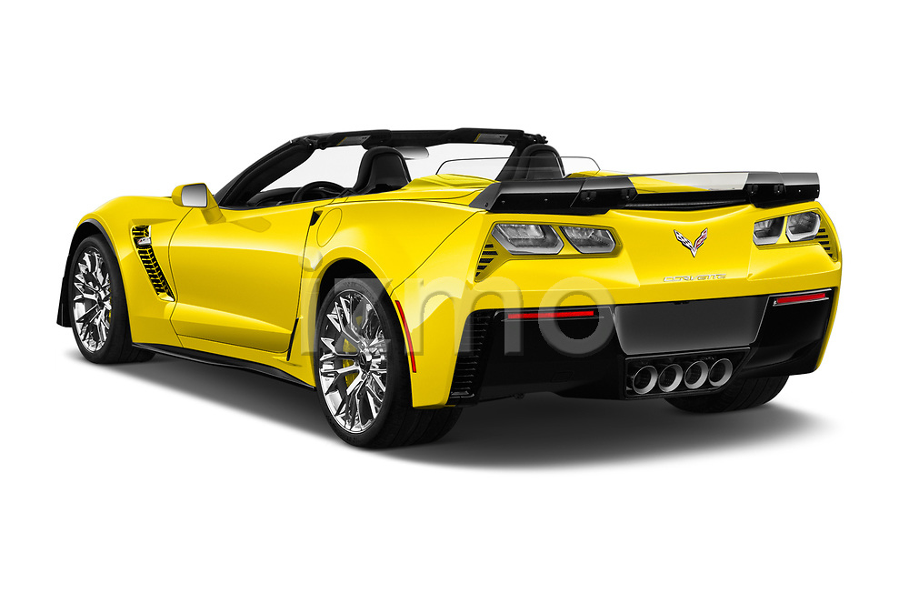Car pictures of rear three quarter view of 2018 Chevrolet Corvette Z06-3LZ 2 Door Convertible Angular Rear