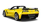 Car pictures of rear three quarter view of 2018 Chevrolet Corvette Z06-3LZ 2 Door Convertible Angular Rear